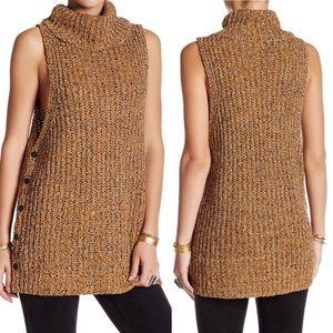 Free People sleeveless turtleneck knit sweater M